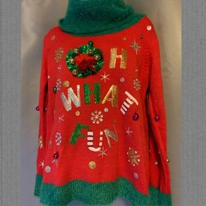 "Sweaters - ""Oh What Fun"" Christmas Sweater"